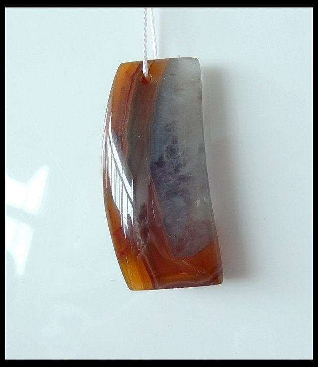 38.5Ct Natural Zhangguo Red Agate Gemstone Pendant