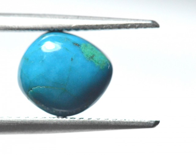 9.9mm chrysocolla cabochon ring size sold turquoise color