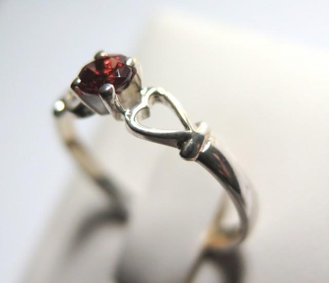 Garnet Genuine Natural Stone 925 Silver Ring