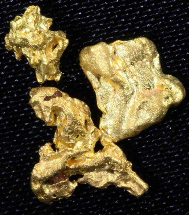 Nuggets Of Information: 0.8 Grams 3 Kalgoorlie Gold Nugget, Australia LGN