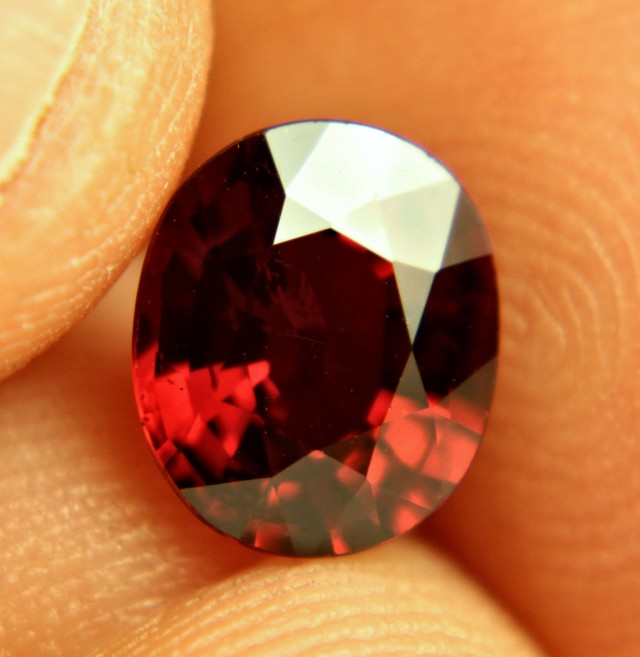 2.97 Carat VVS1 Orangy Red Spessartite Garnet - Superb
