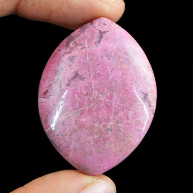 Genuine 88.00 Cts Untreated Pink Rhodonite Cab