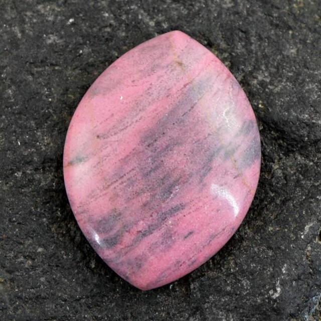 Genuine 76.50 Cts Pink Rhodonite Untreated Cab