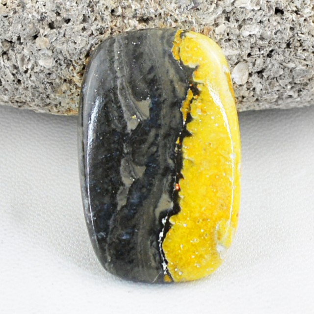 Genuine 37.00 Cts Untreated Bumble Bee Jasper Cab