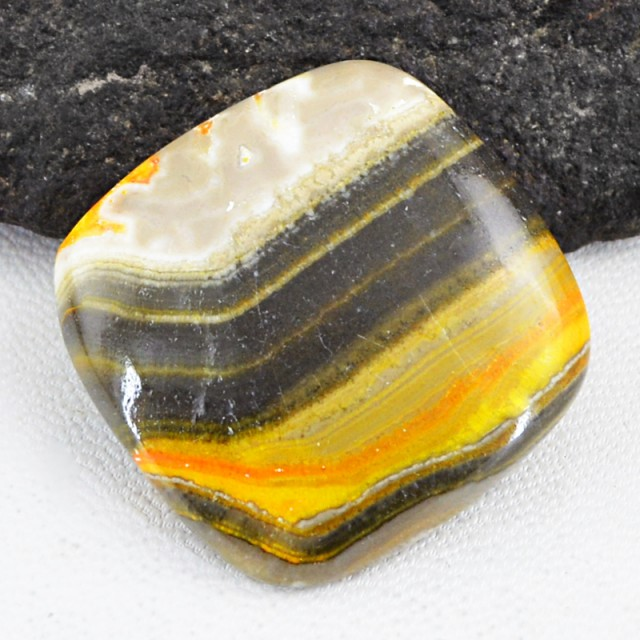 Genuine 53.50 Cts Untreated Bumble Bee Jasper Cab