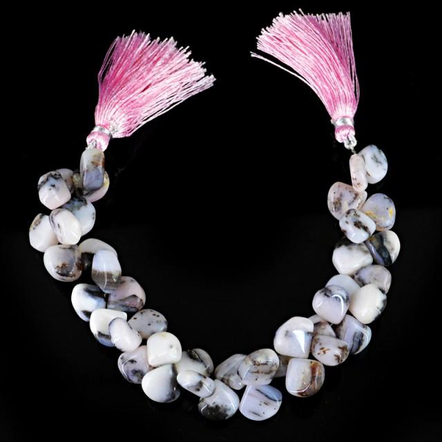 Genuine 209.40 Cts Pink Jasper 8 Inches Beads Strand