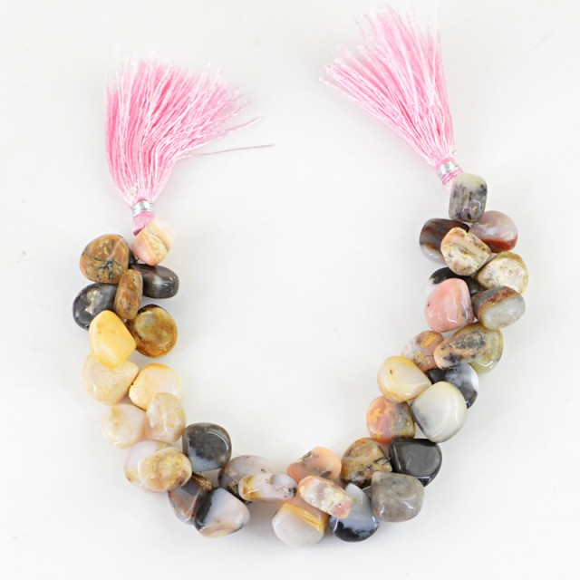 Genuine 244.15 Cts Pink Jasper 8 Inches Beads Strand