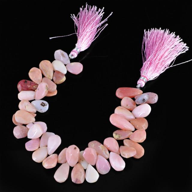 Genuine 172.55 Cts Pink Jasper 8 Inches Beads Strand