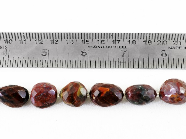 Genuine 478.05 Cts Brown Jasper 14 Inches Beads Strand