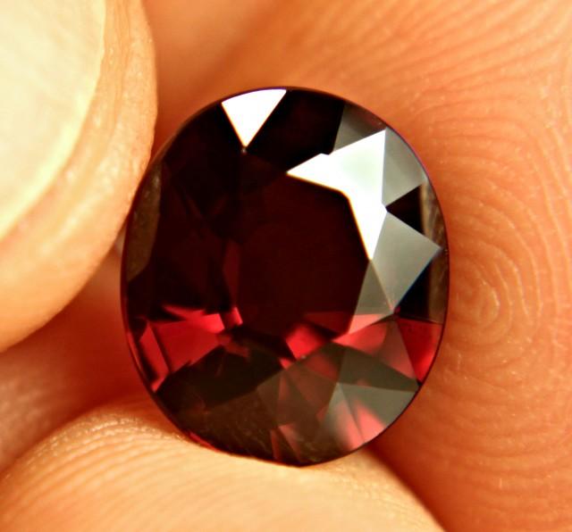5.14 Carat VVS1 Fiery Red Rhodolite Garnet - Superb