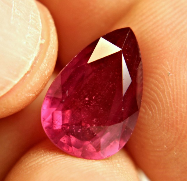 10.46 Carat Vibrant Ruby Pear - Superb