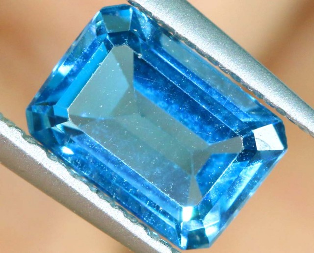 BLUE TOPAZ NATURAL FACETED 1  CTS PG-1886