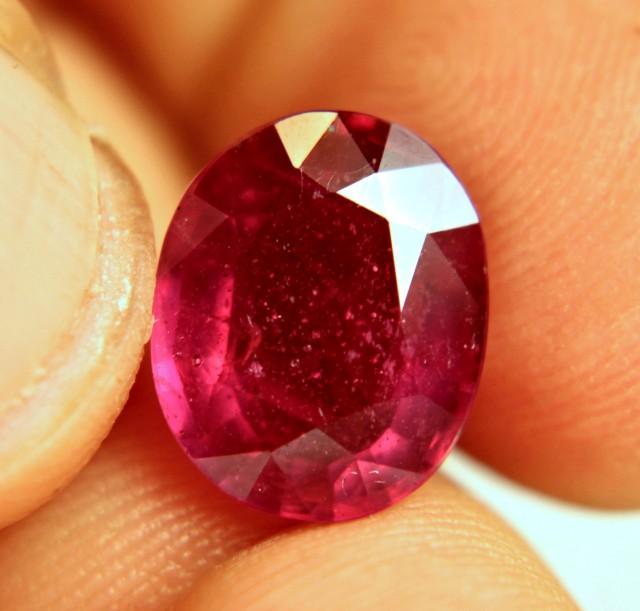 6.89 Carat Fiery Ruby - Superb