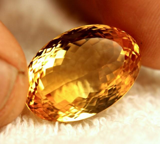 34.2 Carat Golden Brazilian VVS Citrine