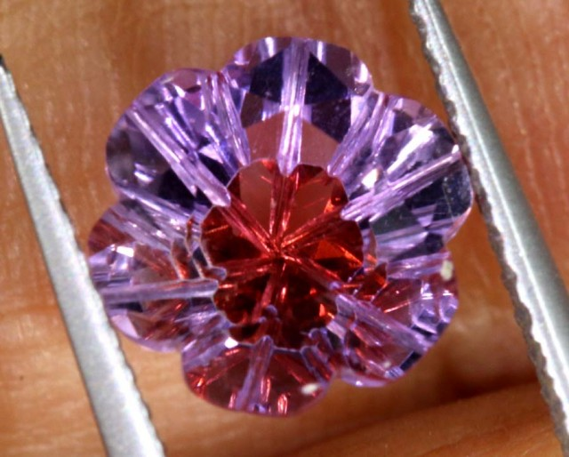 1.7 CTS AMETHYST FLOWER CARVINGS STONE PG- 1916