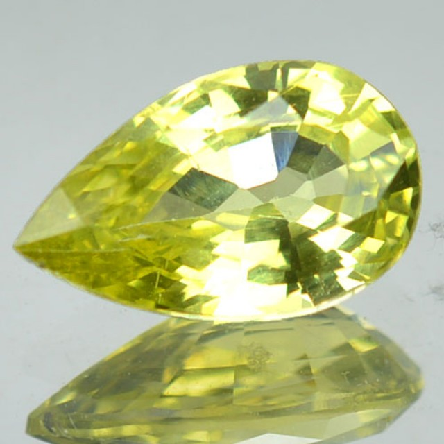 1.37 Cts Natural Honey Green Chrysoberyl Pear Cut Srilanka Gem