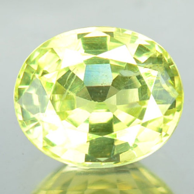1.19 Cts Natural Lime Green Chrysoberyl Oval Cut Srilanka Gem