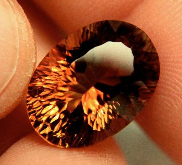 13.21 Carat VVS South American Golden Brown Topaz - Gorgeous