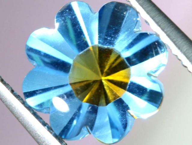 1.95 CTS BLUE TOPAZ FLOWER CARVING PG-1956