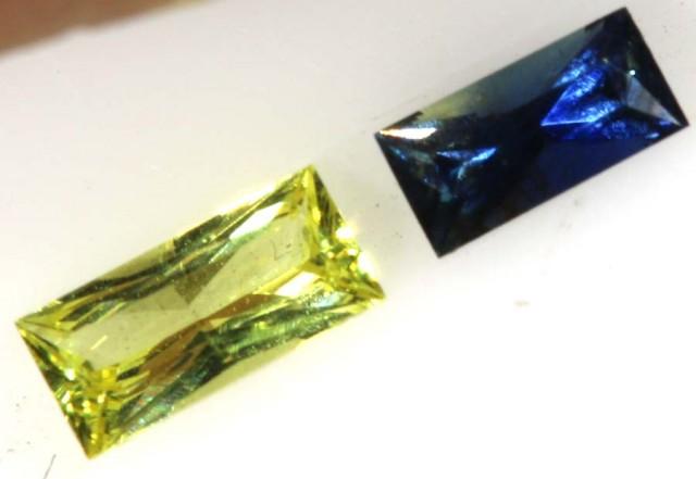 0.3 CTS LEMON & BLUE SAPPHIRE FACED STONE   PG-1959