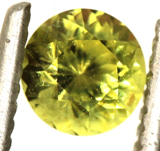 0.6 CTS UNHEATED YELLOW SAPPHIRE FACETED GEMSTONE TBM- 924