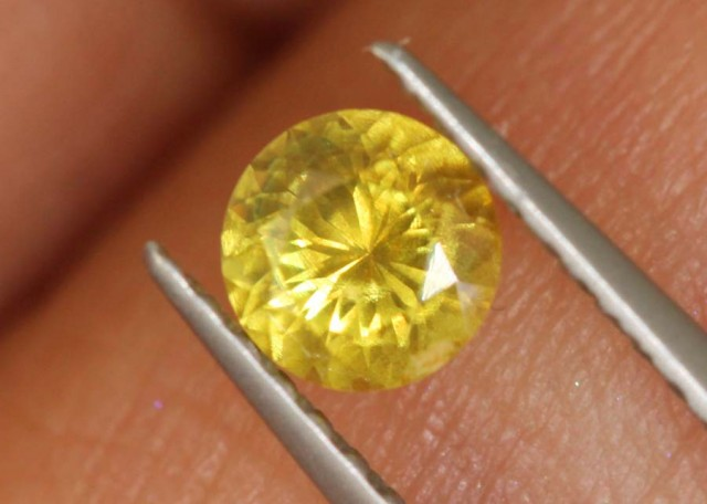 0.5 CTS UNHEATED YELLOW  SAPPHIRE FACETED GEMSTONE TBM-926