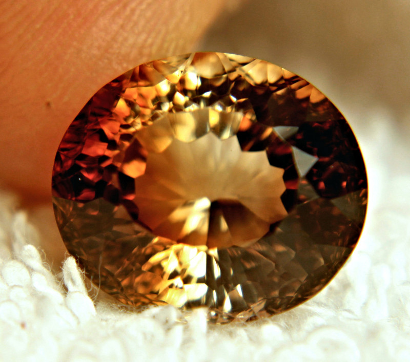 17.55 Carat VVS Golden Brown Topaz - Superb