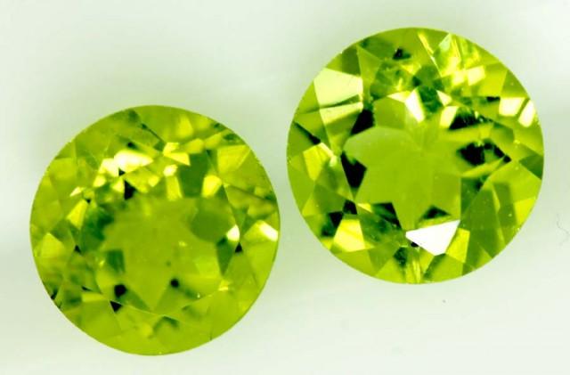 1.5 CTS PERIDOT BRIGHT GREEN PAIR (2 PCS)   CG-2189