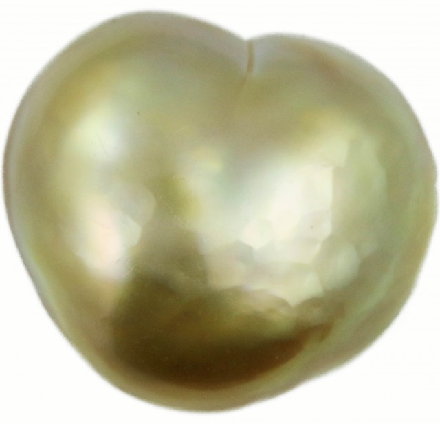 18.2 Cts Golden Love Heart Shape Natural Pearl [PPP883]