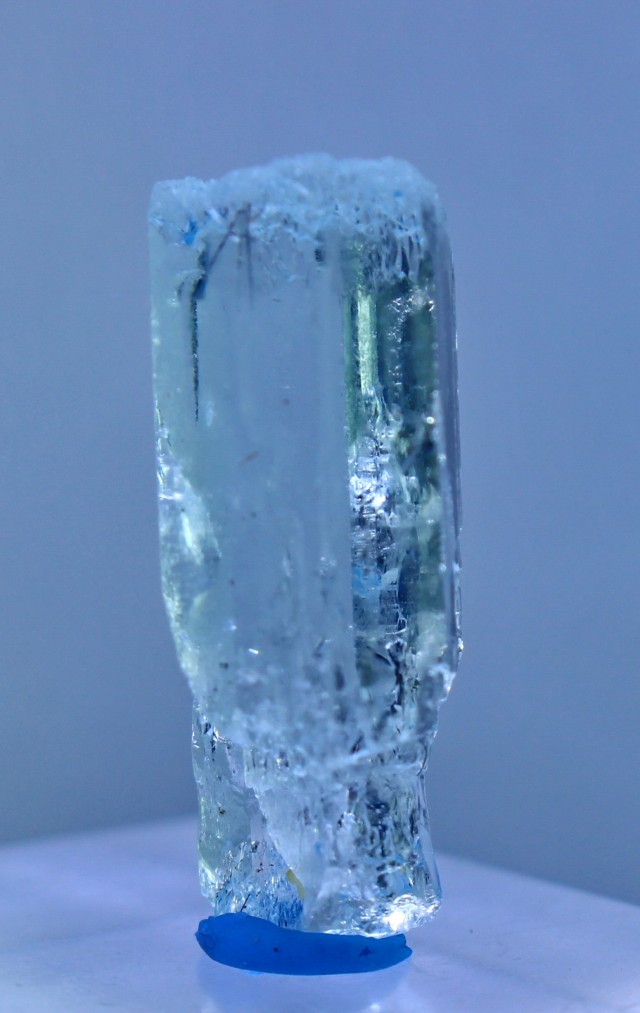 24.05 Cts Natural & Unheated Water Blue Aquamarine Crystal