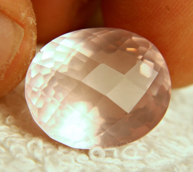 20.7 Ct. Cushion Cut Pink Rose Quartz - Gorgeous
