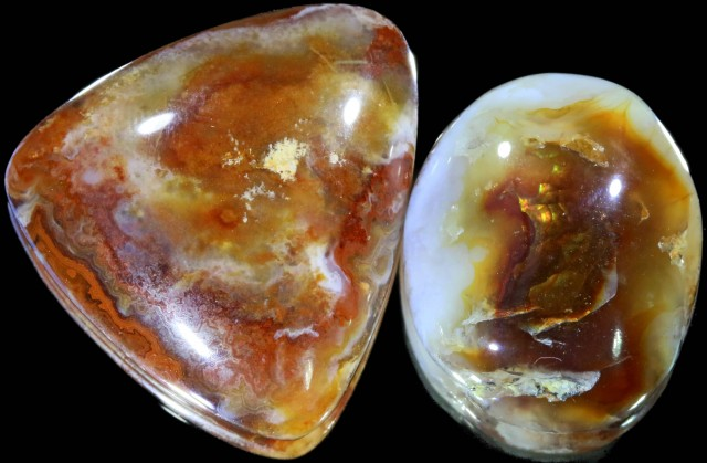 57.95 CTS POLISHED FIRE AGATE STONES [MGW5005]