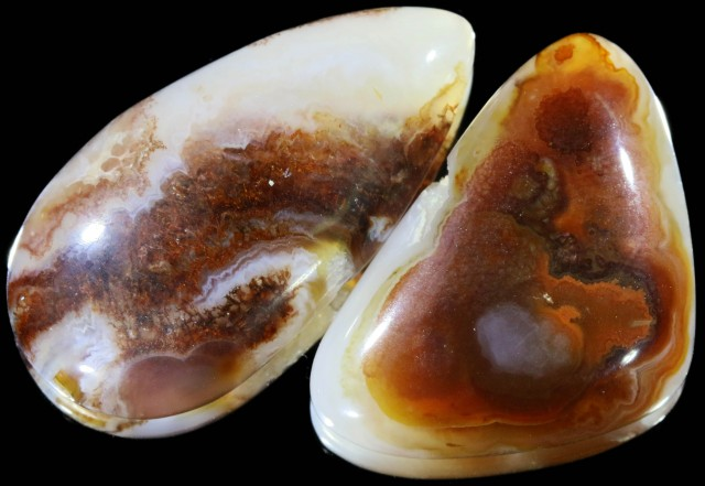 55.90 CTS POLISHED FIRE AGATE STONES [MGW5012 ]