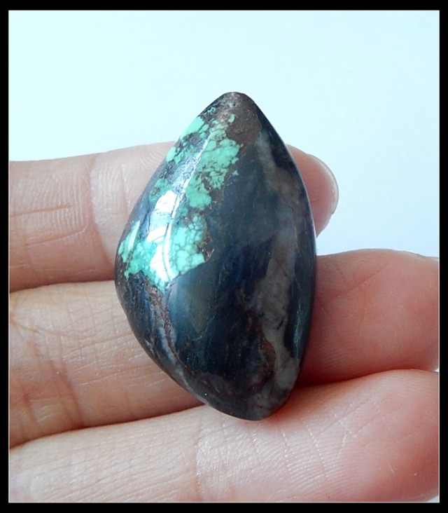 30.5Ct Natural Turquoise Gemstone Cabochon Bead Rare Stone (A54)