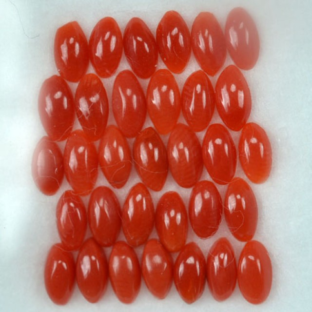UNHEATED 5.00 Cts Natural Italian Red Coral (5x2.5 mm) 32 Pcs Parcel