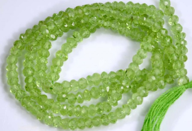 23.5 CTS PERIDOT BEADS FACETED NP-2147