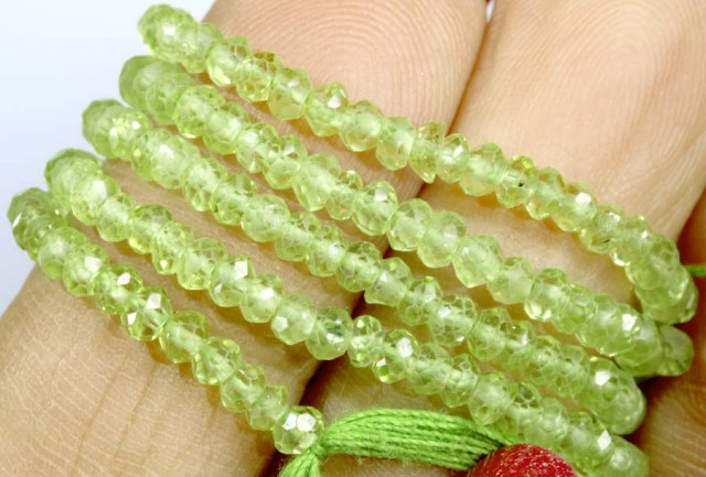 23.5 CTS PERIDOT BEADS FACETED NP-2151