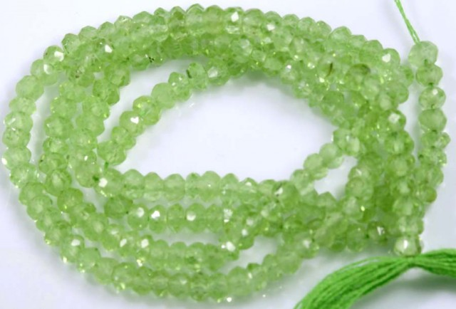 23.5 CTS PERIDOT BEADS FACETED NP-2158