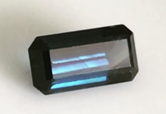 CERTIFIED 1.95ct  Emerald Cut  Blue  Sapphire Australia  - A792 G506