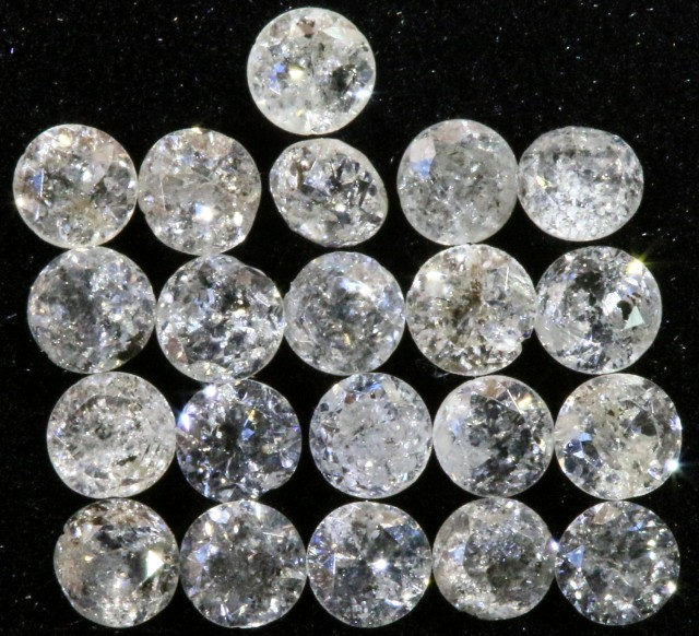 0.738  cts Parcel white  3 mm diamonds op1401a