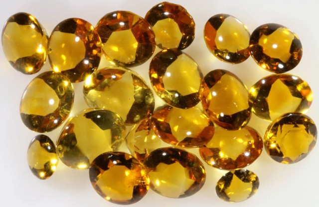 18.75 Cts Oberstein cut Golden Citrine Gemstones GOGO 1369