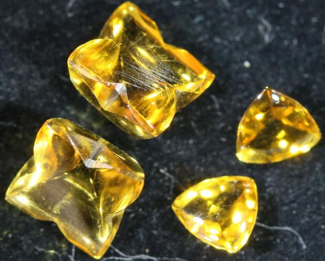 4.00 Cts Oberstein cut Golden Citrine Gemstones GOGO 1382