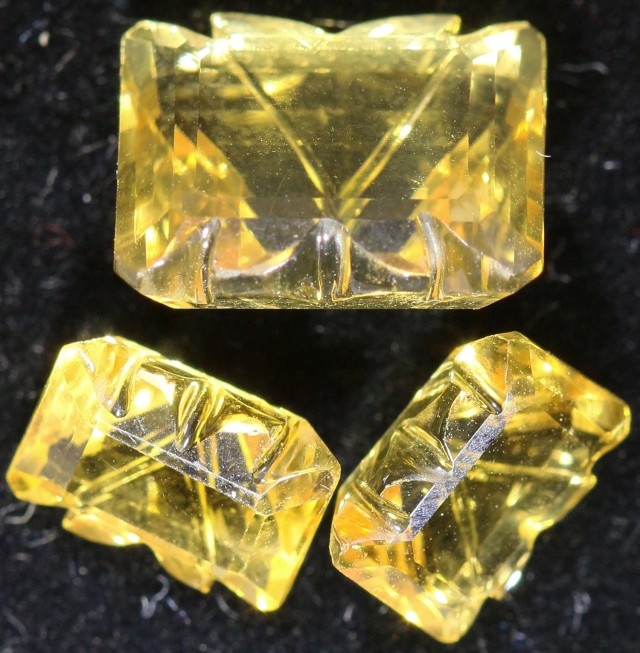 18.60 Cts Oberstein cut Golden Citrine Set Gemstones GOGO 1388