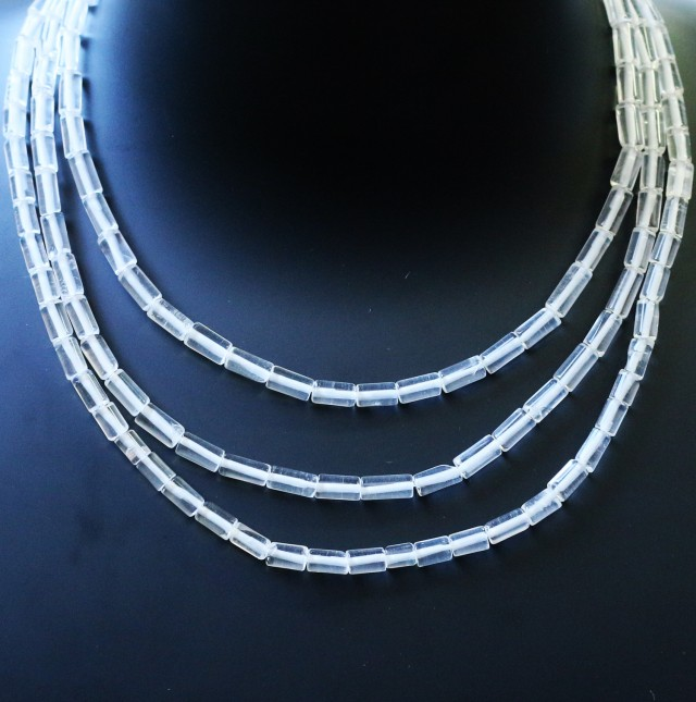 205.00 Cts three Strand Crystal bead strands  GOGO 1476