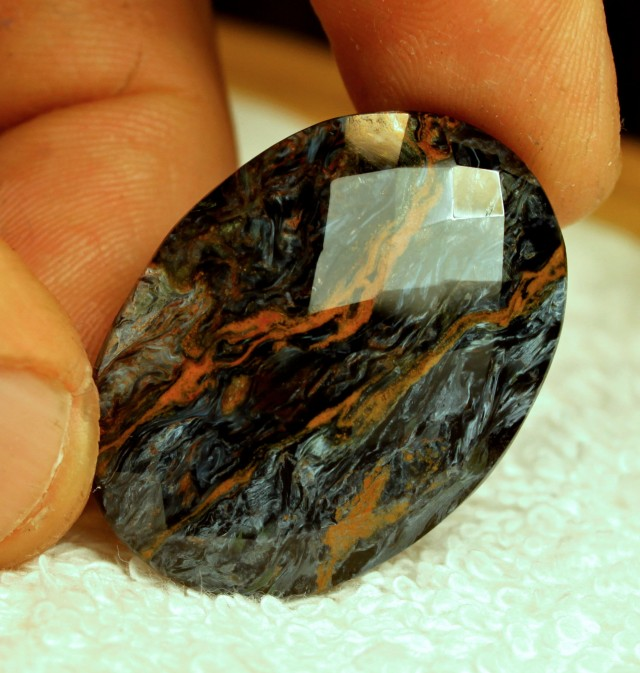 33.00 Carat Natural Faceted China Pietersite - Lovely