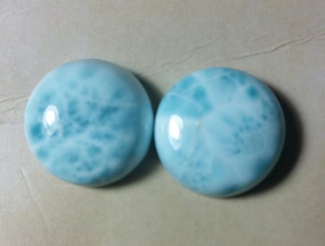 Small Size 19*16*5mm Larimar Gemstone Blue Larimar AAA++  Larimar Cabochon Gemstone Oval Shape Designer Cabochon Ring Stone 14Cts