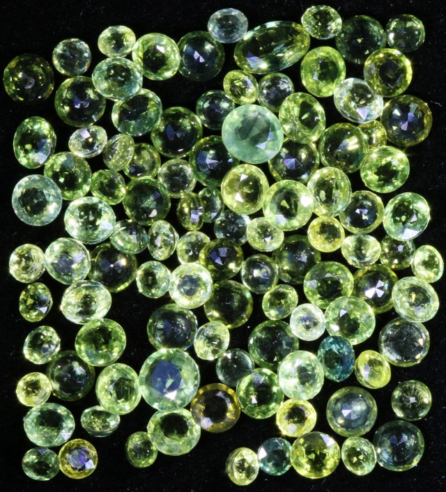 26.10 Cts Commercial Parcel parti green  Sapphire GOGO 1583