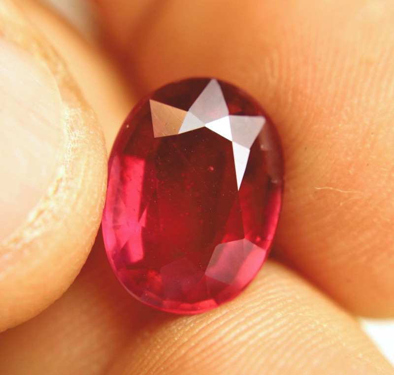 6.67 Carat Fiery, Flashy Earth Mined Ruby