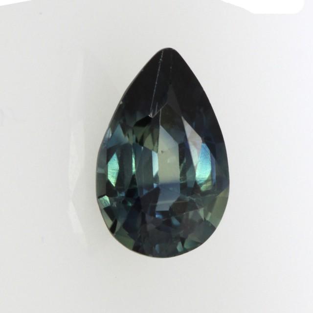 0.65cts Natural Australian Blue Parti Sapphire Pear Cut