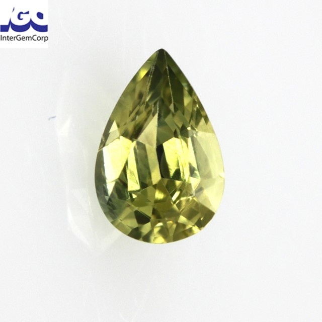 0.65cts Natural Australian Yellow Sapphire Pear Cut